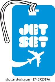 Luggage Tag Template - Jet set
