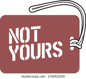 Luggage Tag Template - Not your