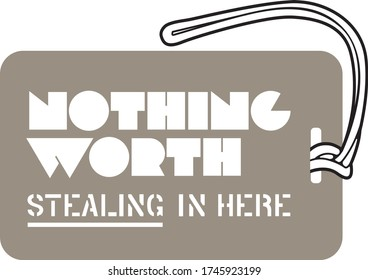 Luggage Tag Template - Nothing worth stealing in here