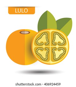Lulo, fruit vector illustration