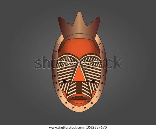 Lulua Mask, representing the spirits of the dead and are used by masqueraders who perform during circumcision rites in initiation ceremonies.
