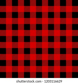 Lumberjack Buffalo Plaid  Pattern. Red and Black Lumberjack.