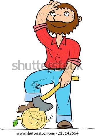 ab046615 Lumberjack Have Rest arkivert vektor (royalty-fritt) 215142664 ...