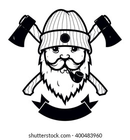 royalty free lumberjack hat stock images photos vectors  lumberjack logo template design in vector