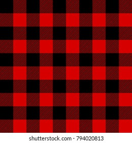 Lumberjack pattern. Moving black and red cells