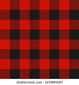 Lumberjack plaid seamless pattern. Vector illustration.