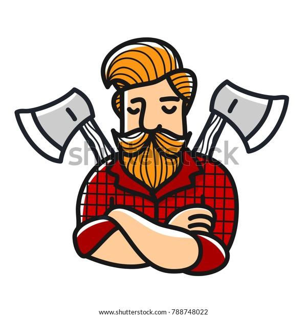 Pleasing Lumberjack Rockabilly Hairstyle Stock Vector Royalty Free 788748022 Natural Hairstyles Runnerswayorg