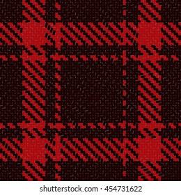 Lumberjack Seamless Vector Pattern. Trendy Hipster Style Background. Tartan and Buffalo Check Plaid Pattern. Vector illustration.
