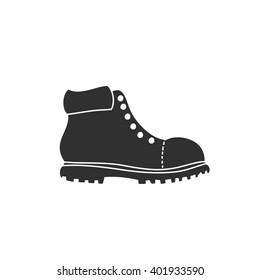 lumberjack shoe icon. vector illustration