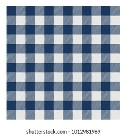 Lumberjack square white plaid blue pattern tartan blue stripes texture vector