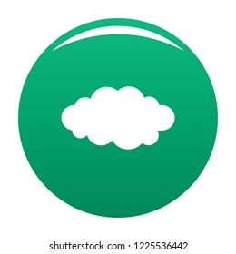 Luminous translucent cloud icon. Simple illustration of luminous translucent cloud vector icon for any design green