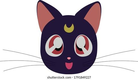 luna black cat sailor moon