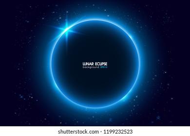 Lunar eclipse Background. Vector Illustration.