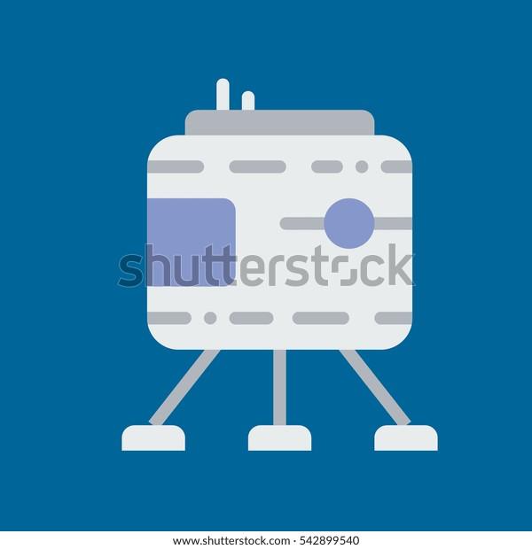 lunar module icon flat disign