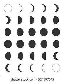 Lunar Moon Phases Icons