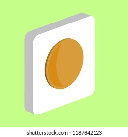 Lunation, Moon Simple vector icon. Illustration symbol design template for web mobile UI element. Perfect color isometric pictogram on 3d white square. Lunation, Moon icons for your business project