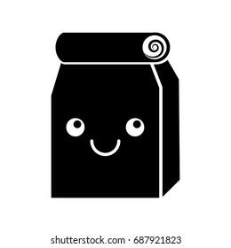 Lunch bag in paper bag kawaii character