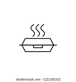 lunch box icon. Element of food icon. Thin line icon for website design and development, app development. Premium icon