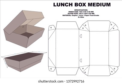 lunch box packaging with an attractive & practical shape.