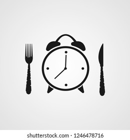 lunch breakfast time illustration vector icon