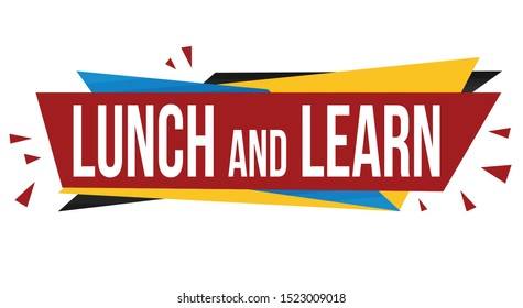 Lunch and learn banner design on white background, vector illustration