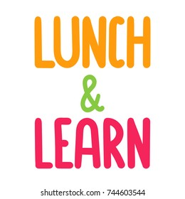 Lunch and learn. Vector hand drawn illustration on white background.
