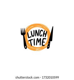 lunch time logo icon  - lunch time vector icon