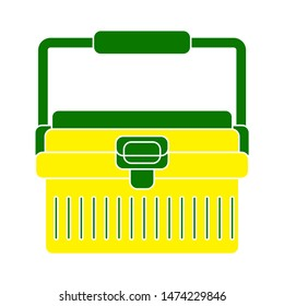 lunchbox icon. flat illustration of lunchbox vector icon. lunchbox sign symbol