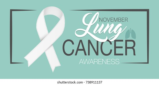 Lung cancer awareness ribbon background.