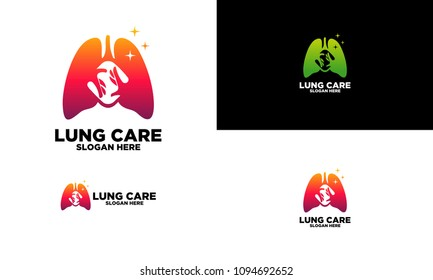 Lung Care Logo Template, Emblem, Design Concept, Creative Symbol, Icon,vector illustration