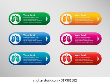Lung icon and infographic design template, business concept.