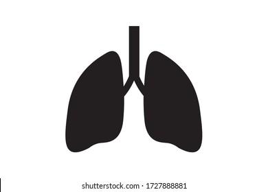 lung icon a vector design illustration
