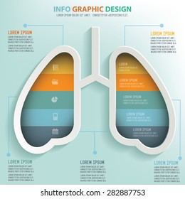 Lung info graphic design, Business concept design. Clean vector.