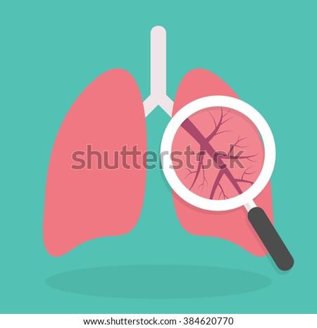 Lung Inspection Icon Medical Inspection Concept Vector de stock ...