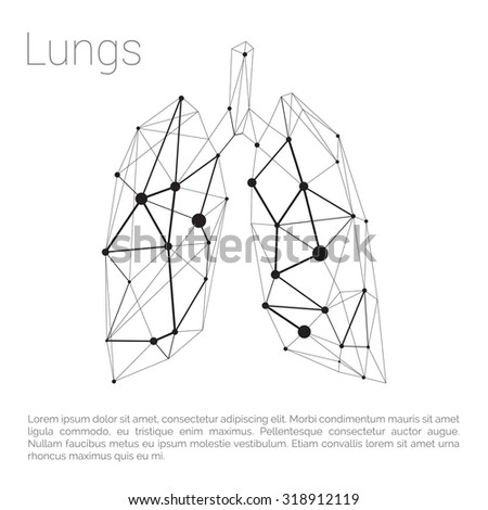 Lungs Carcass Polygonal Geometric Part Body Stock Vector Royalty