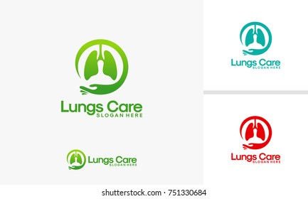 Lungs Care logo designs vector, Lungs Clinic logo Template