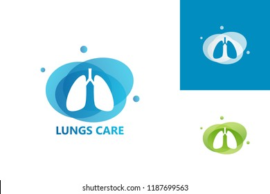 Lungs Care Logo Template Design Vector, Emblem, Design Concept, Creative Symbol, Icon