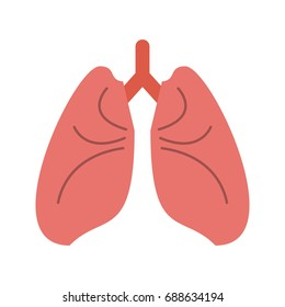 lungs cartoon icon image