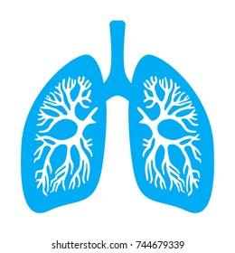 Lungs diaphragm vector icon isolated on white background