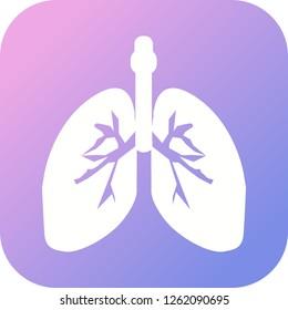 Lungs Glyph round corner multi color gradient BG