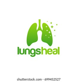 Lungs Heal logo, Lungs Clinic Logo template designs vector illustration