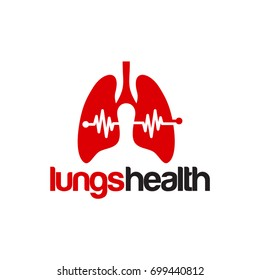 Lungs Health Logo designs vector illustration