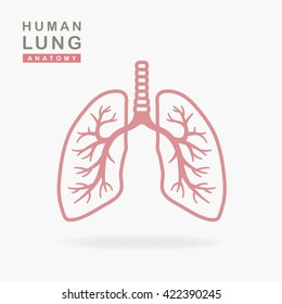 Lungs Icon isolated on white background. vector illustration.