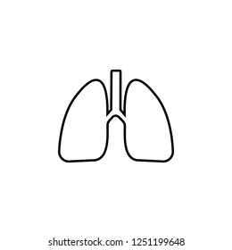lungs icon. Simple outline vector of Medicine  set for UI and UX, website or mobile application