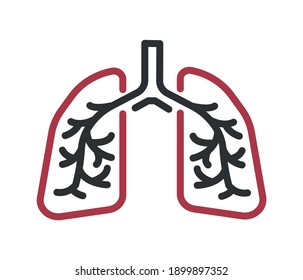 Lungs icon.Lung icon for web and mobile. Health collection.
