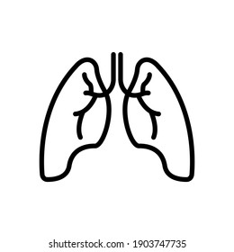 lungs line icon vector illustration design