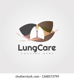 lungs logo with line art design. lung sign or symbol. health of human organs. healthy care and medical icon / emblem. lungs vector. lungs logo. lungs icons. background. vector illustration element