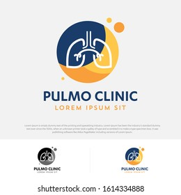 Lungs medical diagnostic center vector logo pulmonary Pulmonology Pulmo icon template