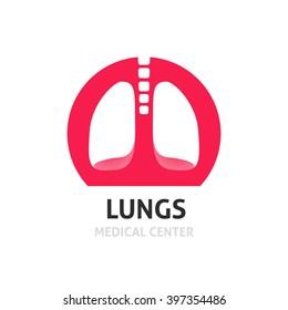 Lungs medical diagnostic center vector logo template