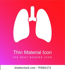 Lungs red and pink gradient material white icon minimal design